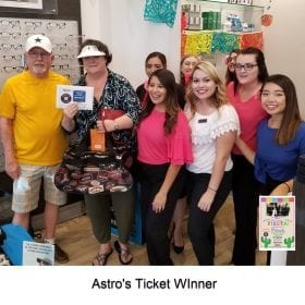 Astros Ticket Winners